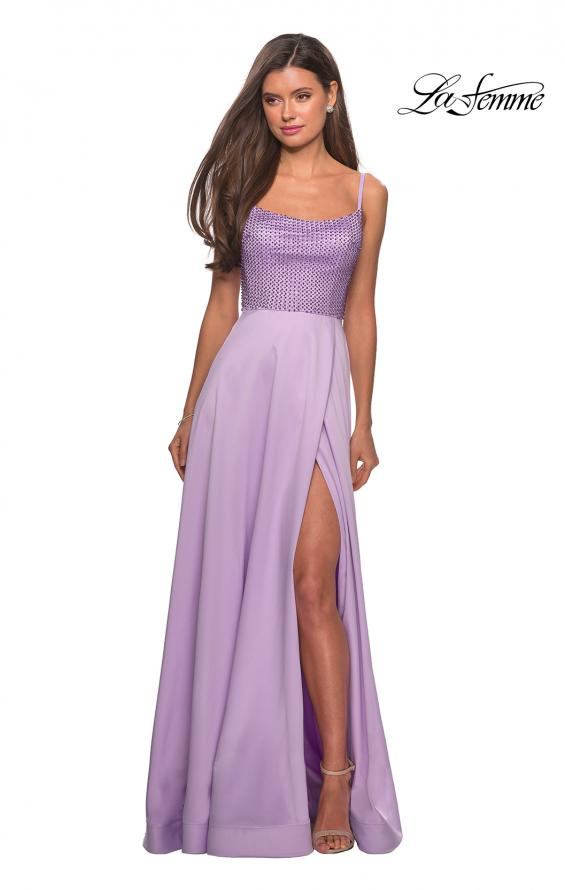 Picture of: Floor Length Prom Dress with Beaded Bust Detail, Style: 27293, Detail Picture 5