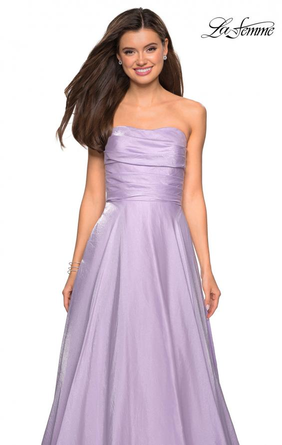 Picture of: Strapless Satin Gown with Ruching and Pockets, Style: 27130, Detail Picture 6