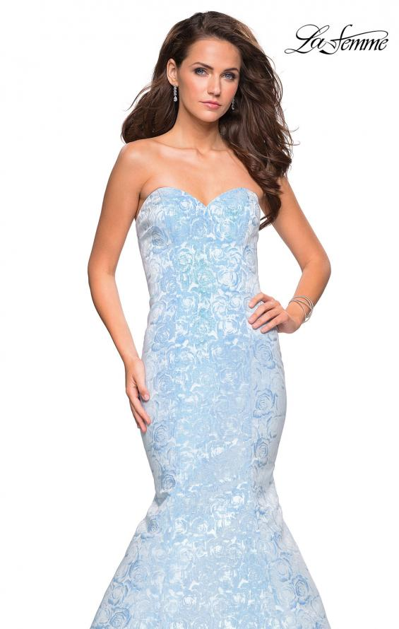 Picture of: Floral Strapless Floor Length Mermaid Prom Gown, Style: 26975, Detail Picture 5