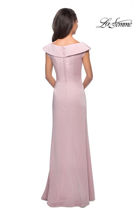 Picture of: Satin Floor Length Gown with Ruched Detailing in Light Blush, Style: 26523, Detail Picture 6