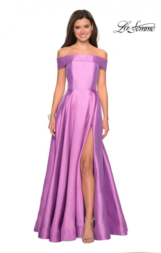 Picture of: Long Off The Shoulder Gown with Pockets, Style: 27005, Detail Picture 1