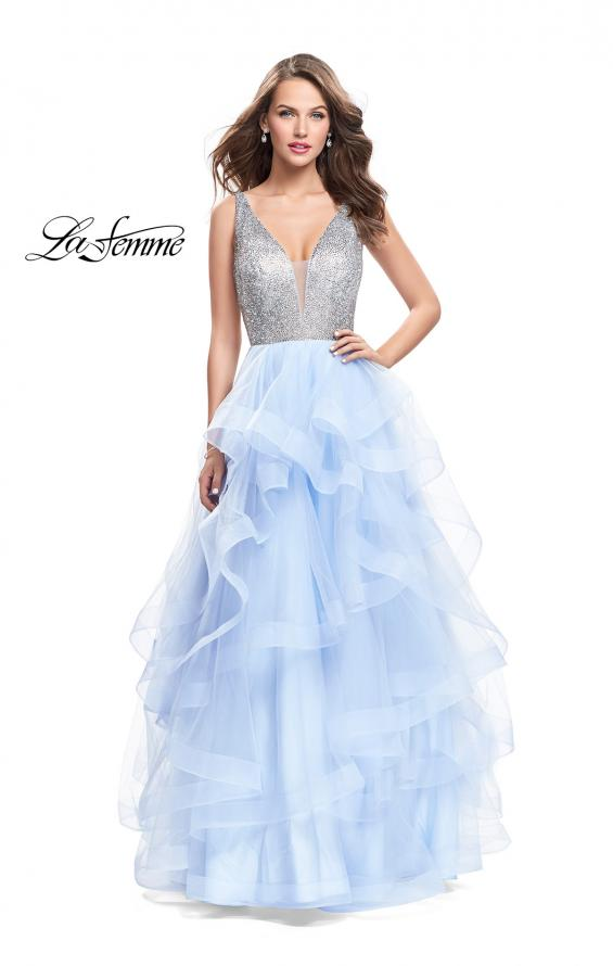 Picture of: Beaded Bodice Ball Gown with Tulle Skirt, Style: 26223, Detail Picture 1