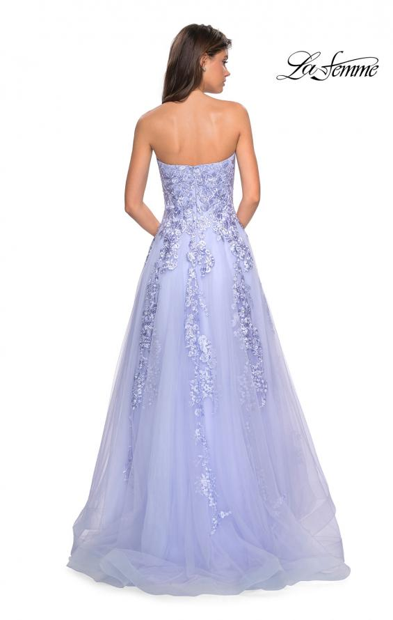 Picture of: Strapless Tulle Prom Dress with Lace Appliques, Style: 27269, Detail Picture 5