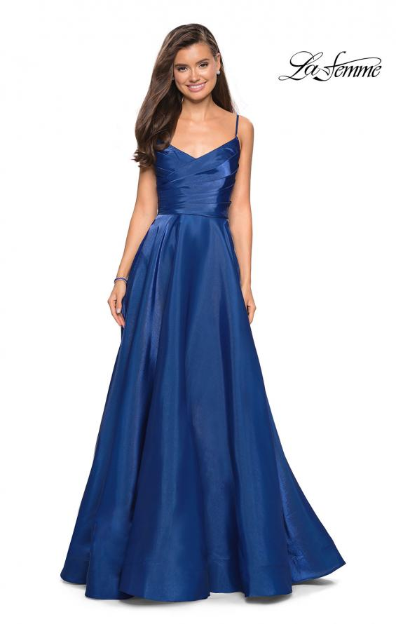 Picture of: Long Satin Simple Prom Dress with Empire Waist, Style: 27226, Detail Picture 2