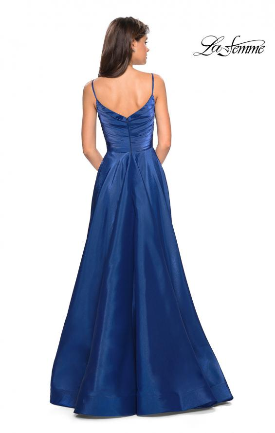 Picture of: Long Satin Simple Prom Dress with Empire Waist, Style: 27226, Detail Picture 3