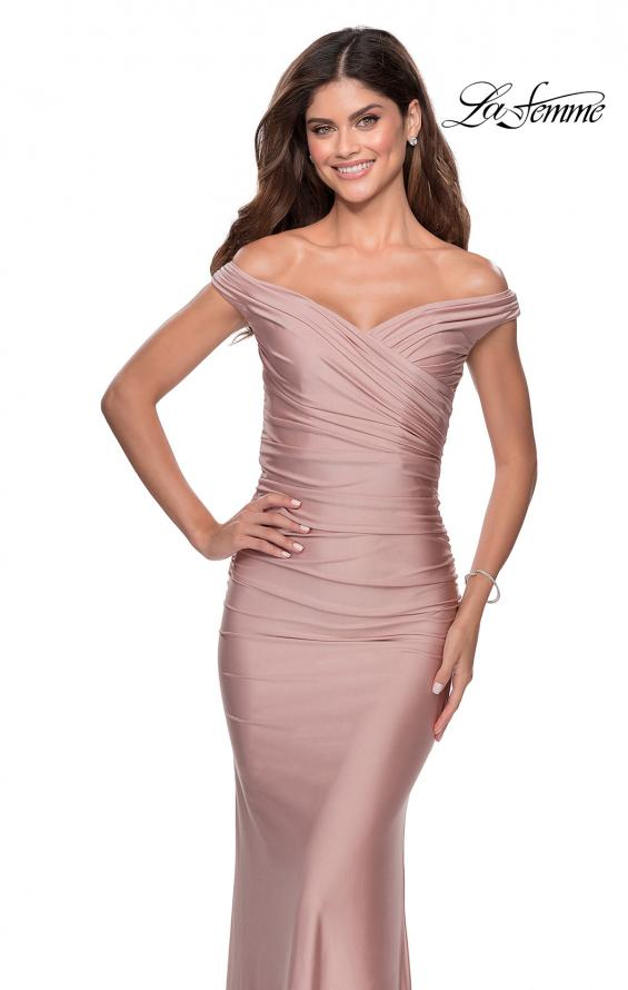 Picture of: Off the Shoulder Prom Dress with Sweetheart Neckline in Mauve, Style: 28450, Detail Picture 1