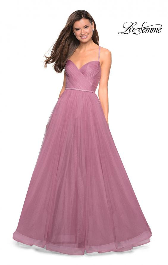 Picture of: Simple Tulle Prom Dress with Sweetheart Neckline in Mauve, Style: 27535, Detail Picture 2