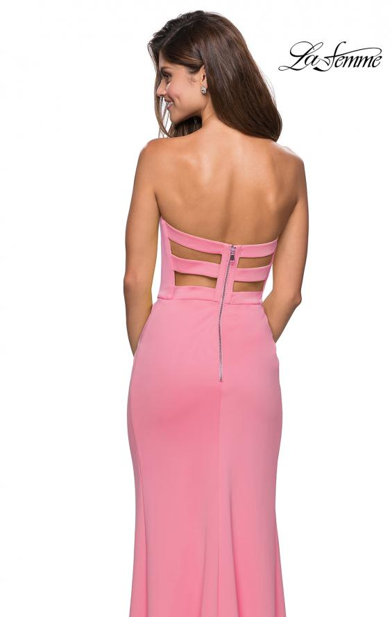 Picture of: Pink Strapless Prom Dress with Cut Out Back and Slit, Style: 27335, Main Picture