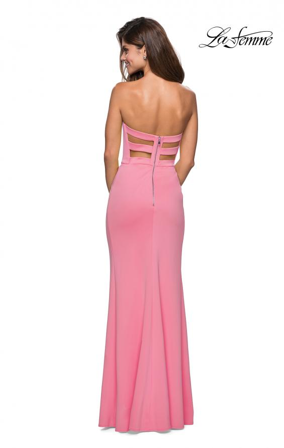 Picture of: Pink Strapless Prom Dress with Cut Out Back and Slit, Style: 27335, Detail Picture 1
