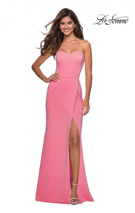 Picture of: Pink Strapless Prom Dress with Cut Out Back and Slit, Style: 27335, Detail Picture 2