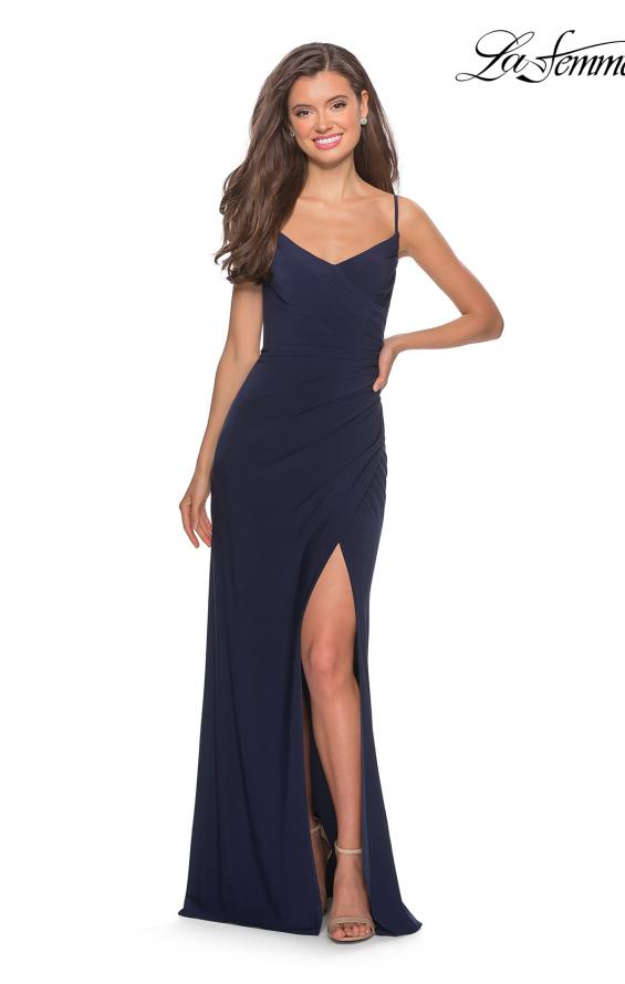 Picture of: Long Sequined Dress with Sweetheart Neckline in Navy, Style: 27879, Detail Picture 1