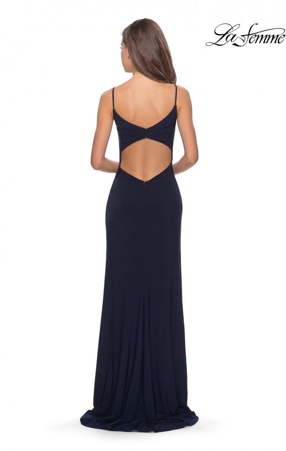 Picture of: Long Sequined Dress with Sweetheart Neckline in Navy, Style: 27879, Detail Picture 2