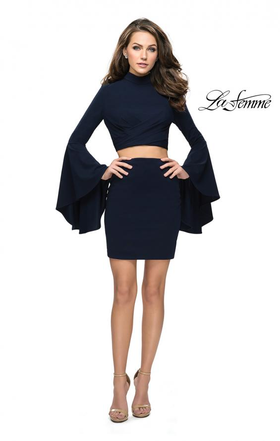 Picture of: Two Piece Bell Sleeve Jersey Dress with Open Back, Style: 26621, Detail Picture 3
