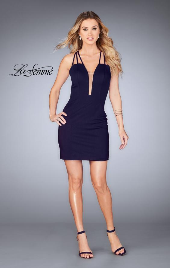 Picture of: Short Tight Homecoming Dress with Thin Straps, Style: 25139, Detail Picture 6