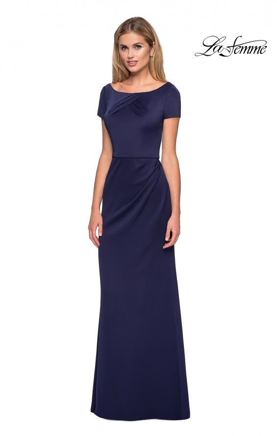 Picture of: Elegant Long Jersey Dress with Short Sleeves, Style: 27067, Main Picture