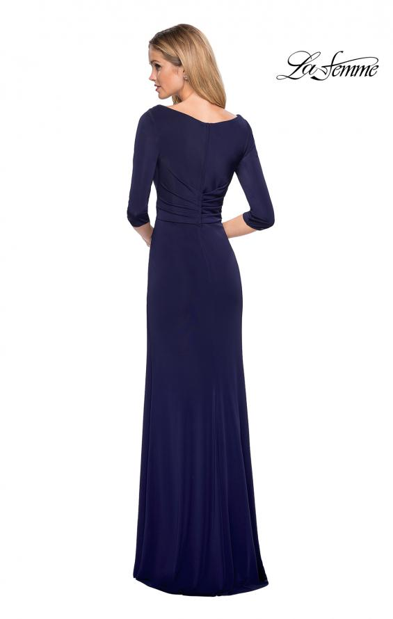 Picture of: 3/4 Sleeve Long Jersey Dress with Sweetheart Neckline, Style: 26955, Back Picture