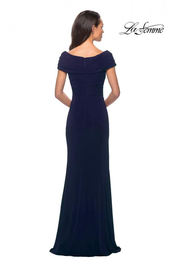 Picture of: Ruched Jersey Long Gown with V-Neckline, Style: 26519, Detail Picture 2
