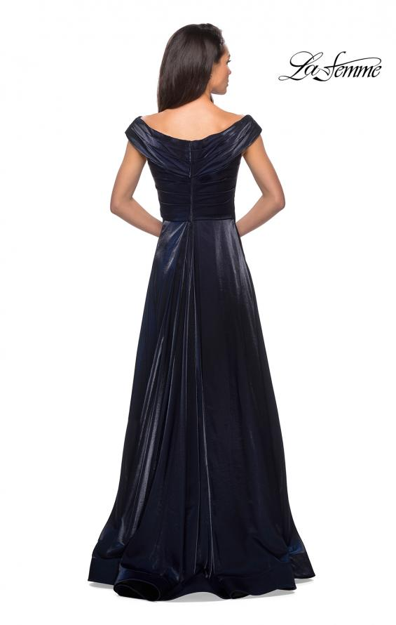 Picture of: Off the Shoulder Satin Gown with Ruching, Style: 27846, Detail Picture 2