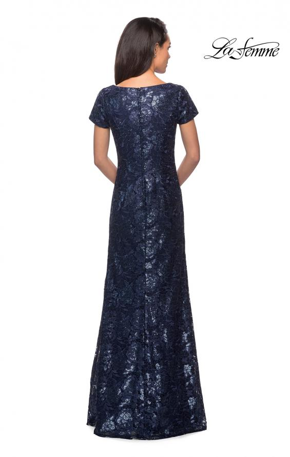 Picture of: Floor Length Short Sleeve Lace Dress, Style: 27884, Detail Picture 3