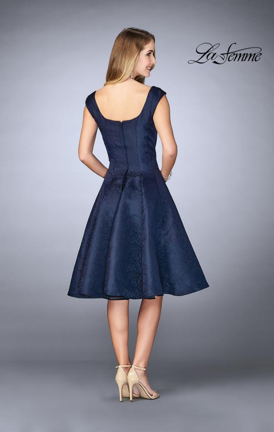 Picture of: Knee Length Evening Dress with Pockets in Navy, Style: 24898, Back Picture
