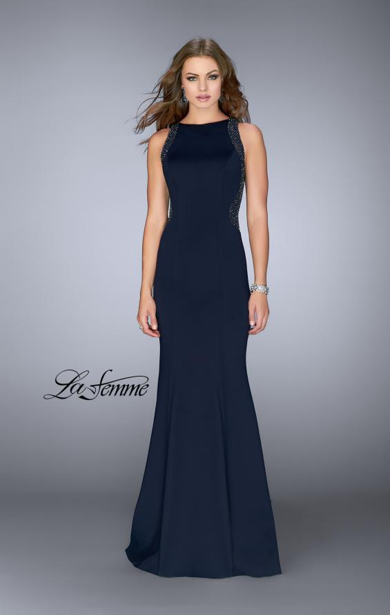 Picture of: Neoprene Dress with Beaded Back and Sides, Style: 24839, Main Picture