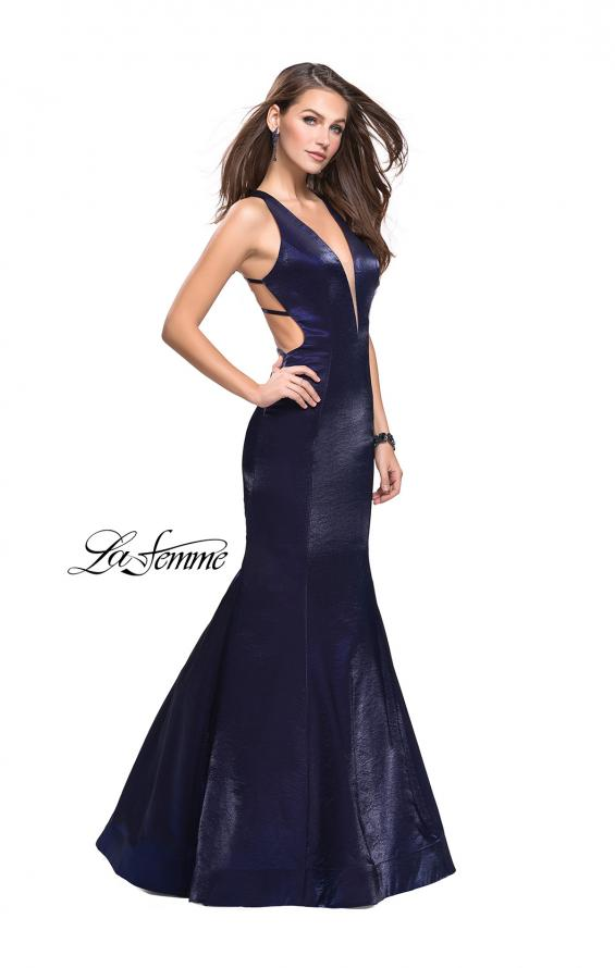 Picture of: Long Form Fitting Mermaid Prom Dress with Deep V, Style: 25494, Main Picture