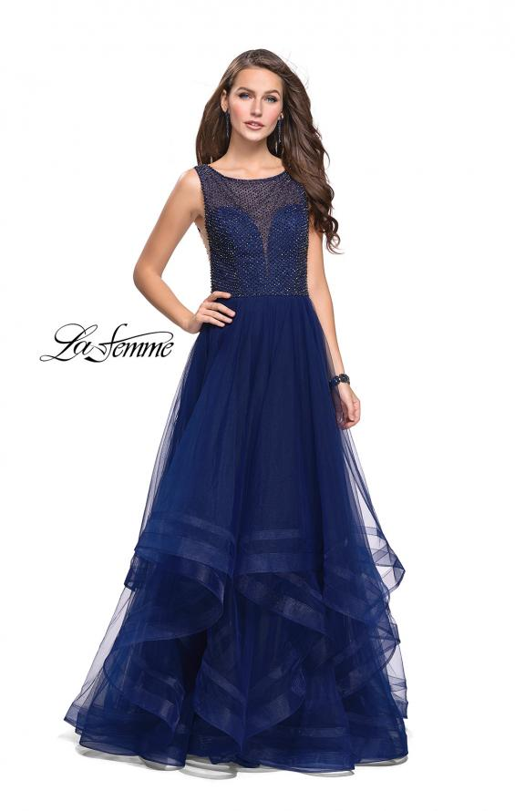 Picture of: Ball Gown with Ruffle Tulle Skirt and Beading, Style: 25620, Main Picture