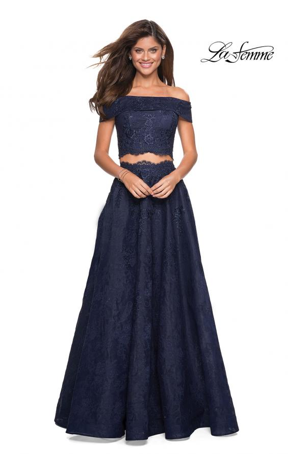 Picture of: Two Piece Off the Shoulder Lace Prom Dress, Style: 27028, Main Picture