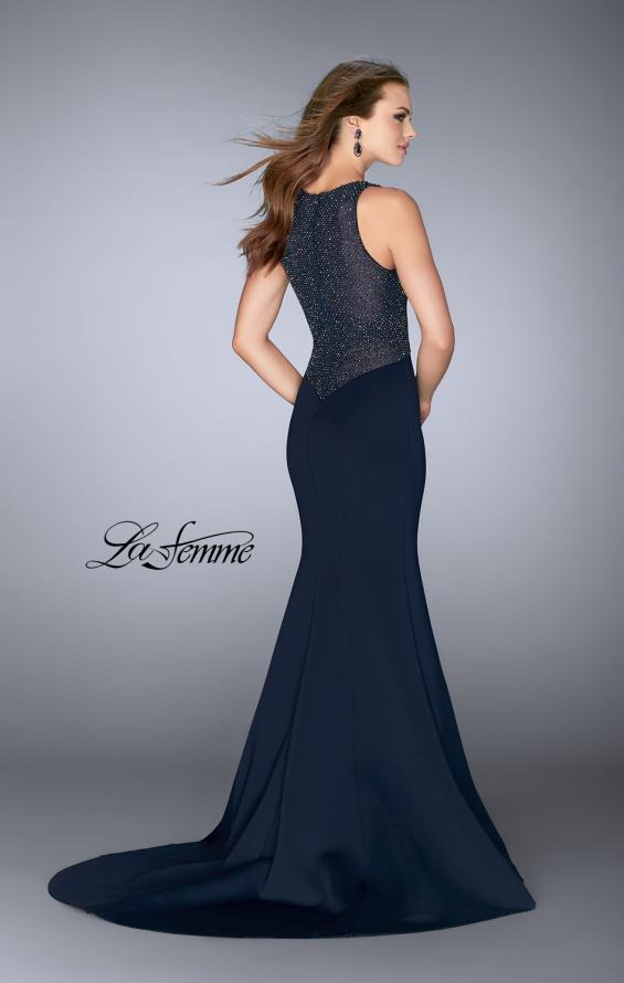 Picture of: Neoprene Dress with Beaded Back and Sides, Style: 24839, Back Picture