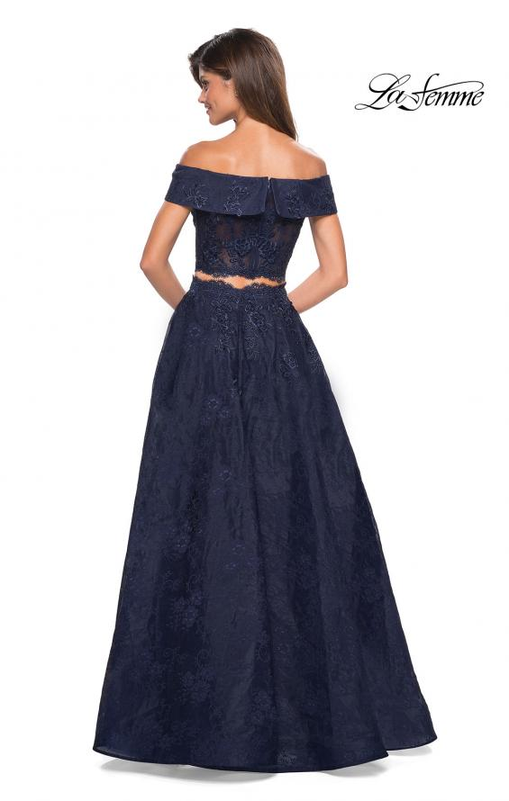 Picture of: Two Piece Off the Shoulder Lace Prom Dress, Style: 27028, Back Picture