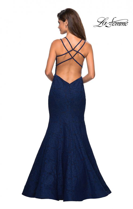 Picture of: Mermaid Style Lace Dress with Strappy Open Back, Style: 27560, Back Picture