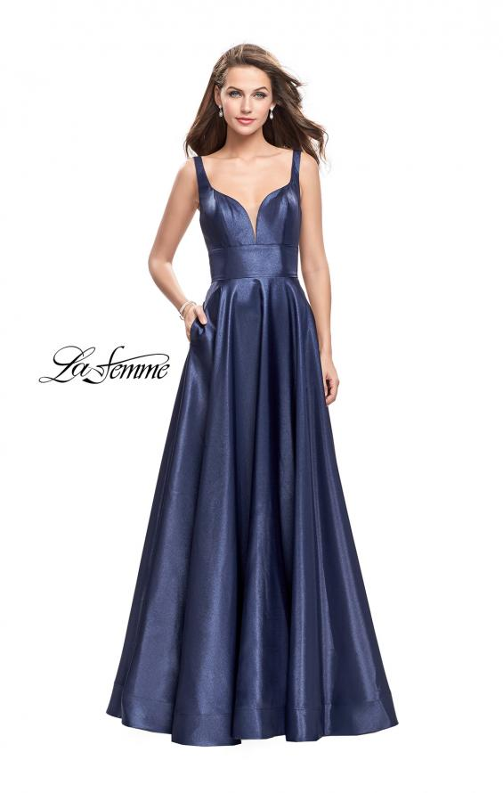 Picture of: A-Line Ball Gown with V Open Back and Pockets, Style: 26015, Detail Picture 1