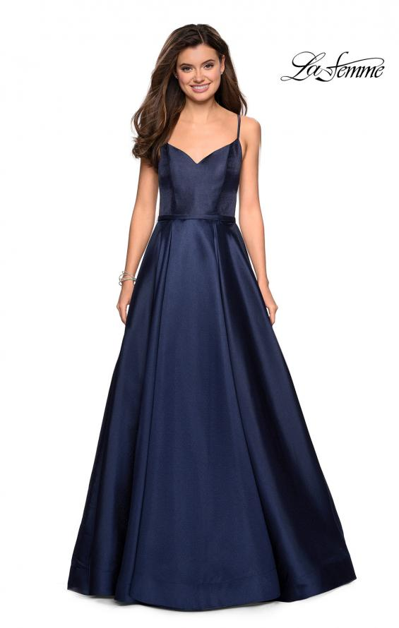 Picture of: Elegant Long Ball Gown with Empire Waist and V Back, Style: 27447, Detail Picture 1