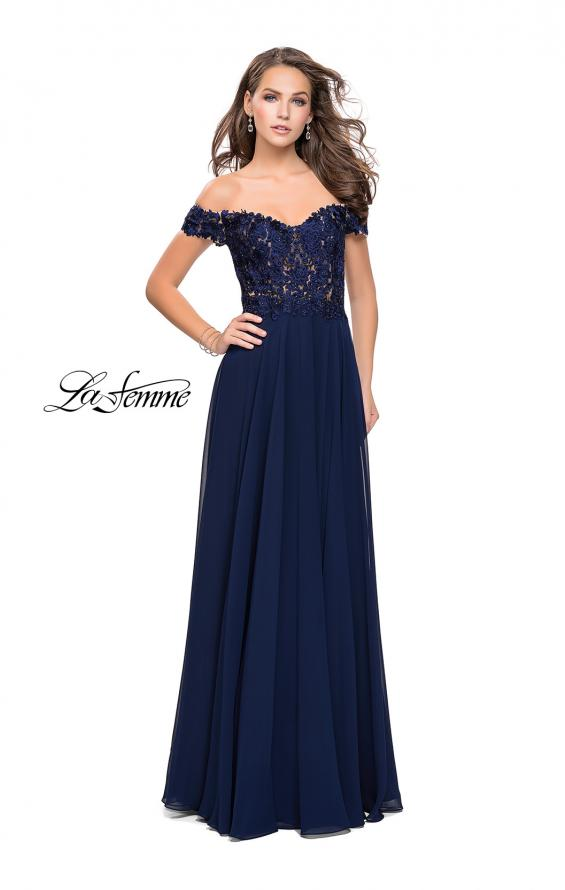 Picture of: Beaded Lace Off the Shoulder Prom Dress, Style: 26070, Detail Picture 3