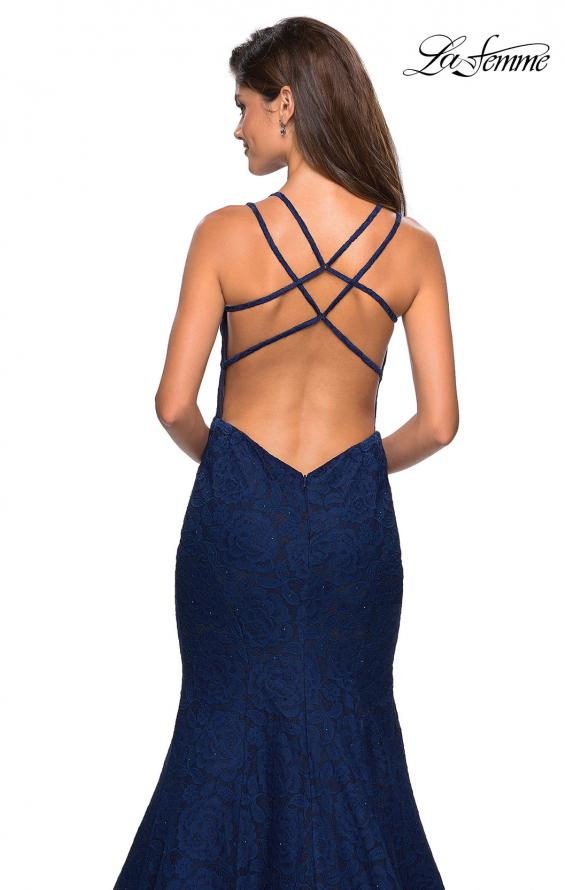 Picture of: Mermaid Style Lace Dress with Strappy Open Back, Style: 27560, Detail Picture 4