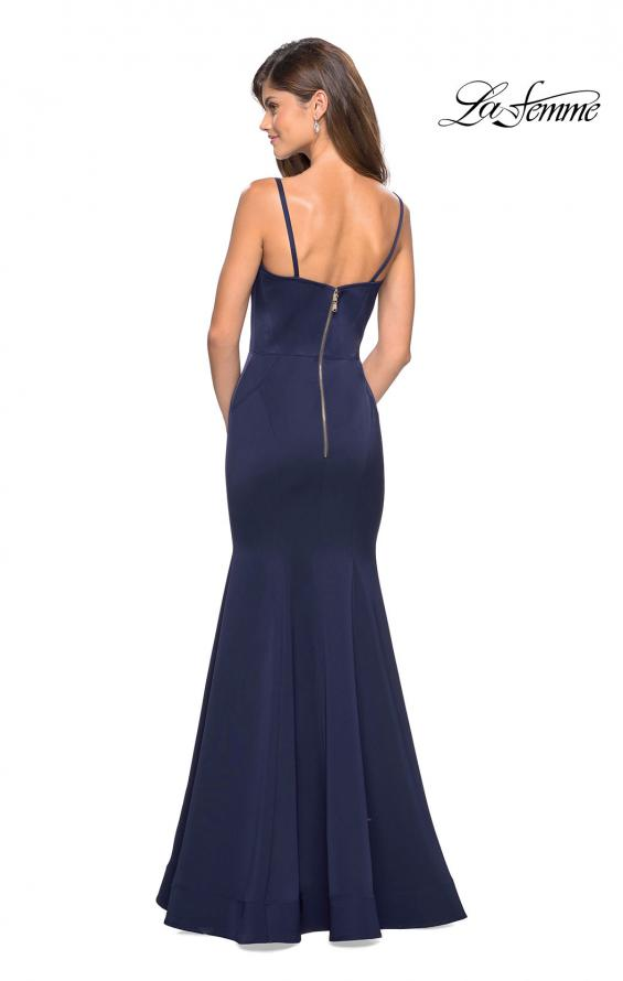 Picture of: Fitted Long Dress with Seams and Large Gold Zipper, Style: 27524, Detail Picture 5