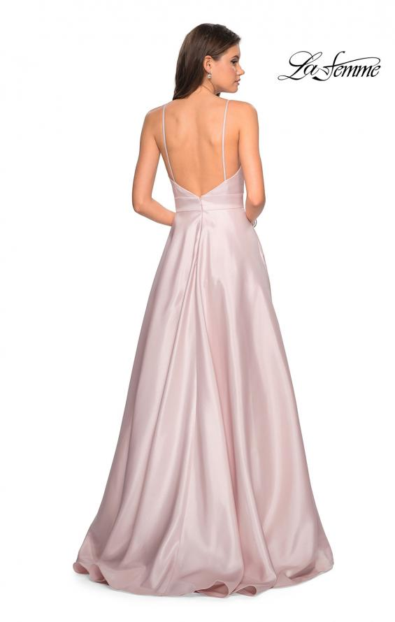 Picture of: Simple A-Line Long Prom Dress with Pockets in Pale Pink, Style: 27823, Back Picture