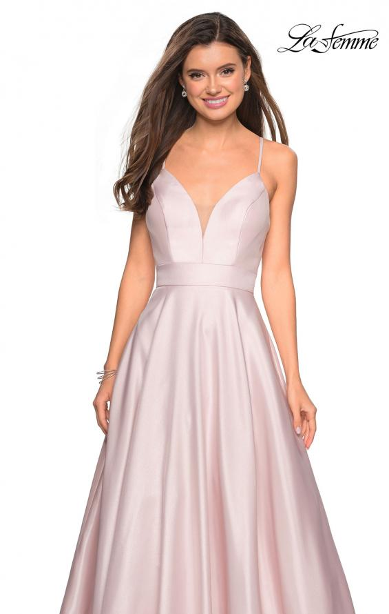 Picture of: Simple A-Line Long Prom Dress with Pockets in Pale Pink, Style: 27823, Detail Picture 1