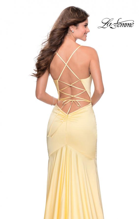 Picture of: Prom Dress with Ruching and Sweetheart Neckline in Pale Yellow, Style: 28720, Detail Picture 6