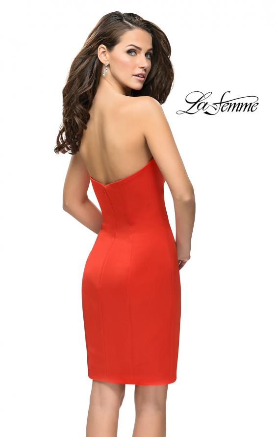 Picture of: Simple Satin Sweetheart Homecoming Dress, Style: 26629, Back Picture