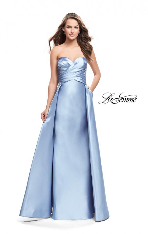 Picture of: Strapless A-line Prom Dress with Cape Skirt and Pockets, Style: 25738, Detail Picture 1