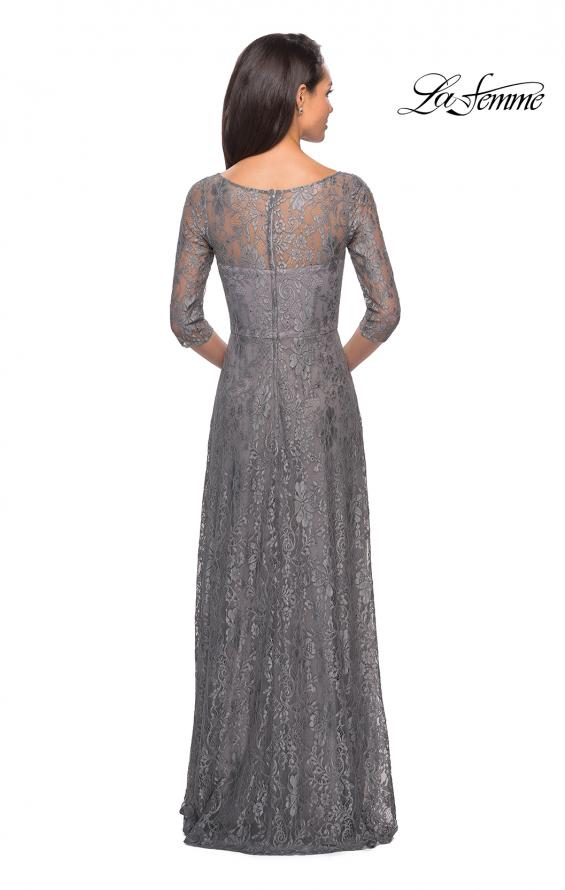 Picture of: Long Lace Dress with Empire Waist and 3/4 Sleeves, Style: 27857, Detail Picture 2