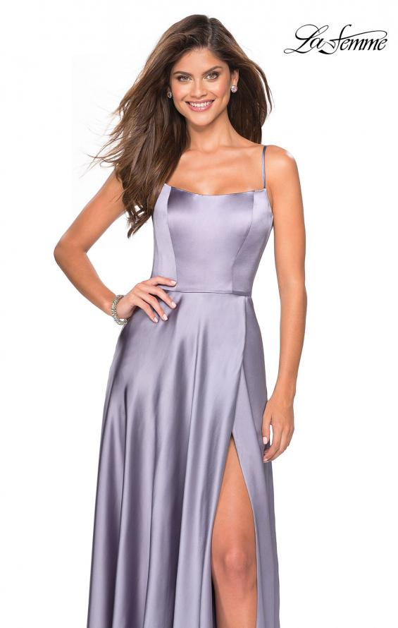 Picture of: Satin Formal Prom Gown with Scoop Neck and Pockets, Style: 26977, Detail Picture 3