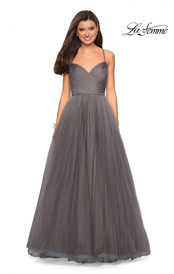 Picture of: Simple Tulle Prom Dress with Sweetheart Neckline in Platinum, Style: 27535, Detail Picture 3
