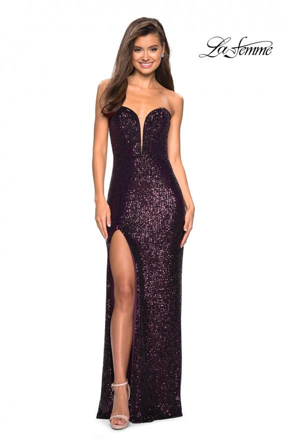 Picture of: Sultry sequin Dress with Sweetheart Strapless Top, Style: 27670, Main Picture