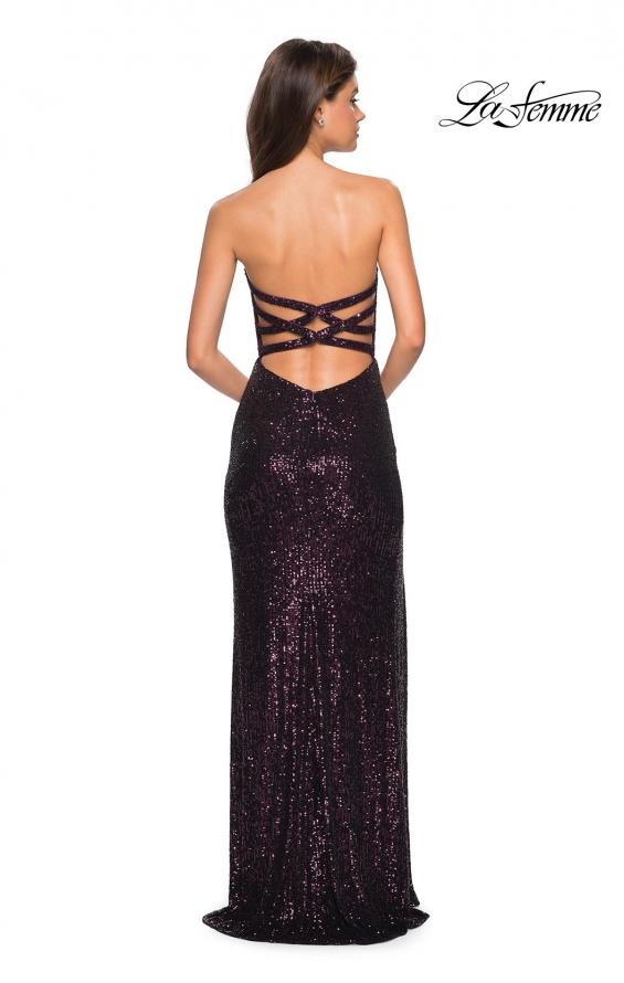 Picture of: Sultry sequin Dress with Sweetheart Strapless Top, Style: 27670, Detail Picture 2