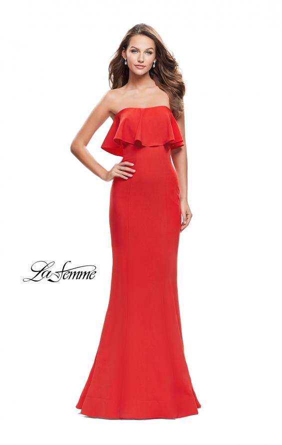 Picture of: Strapless Mermaid Prom Dress with Ruffles, Style: 25419, Main Picture