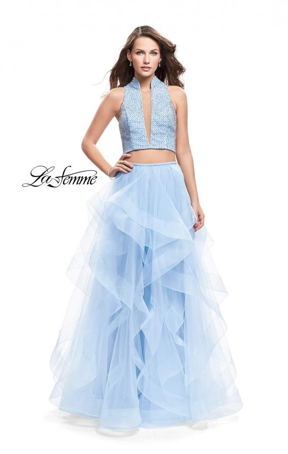 Picture of: Two Piece Ball Gown with Tulle Skirt and Beaded Top, Style: 26240, Main Picture