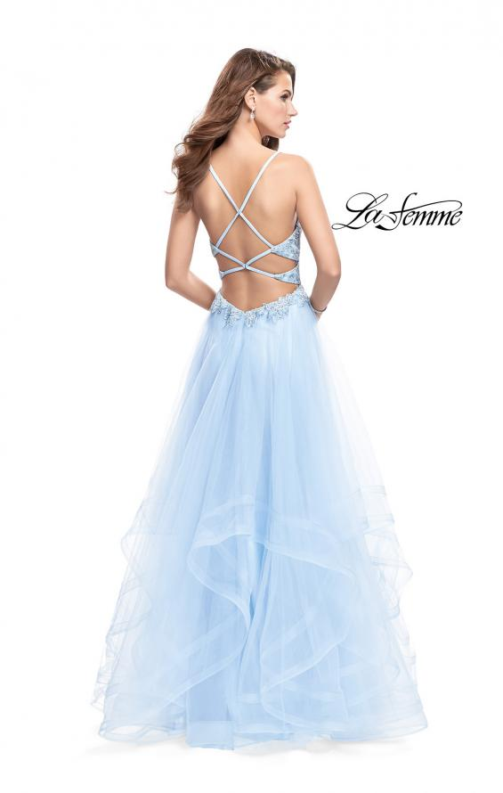 Picture of: Ball Gown with Tulle Skirt and Lace Beading, Style: 25762, Back Picture