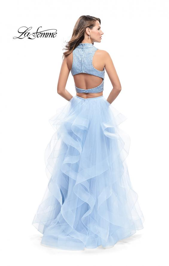 Picture of: Two Piece Ball Gown with Tulle Skirt and Beaded Top, Style: 26240, Back Picture